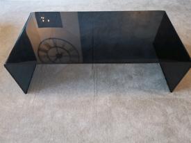 Black Glass Coffee Table 110x54cm
