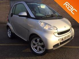 2009 59 SMART FORTWO 1.0 PASSION MHD 2D AUTO PAN ROOF, AIR CON, STOP START,