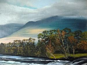 "Kawartha Waterfall by Debi Fitzgerald ""White Water Rapids"" 1980 Stratford Kitchener Area image 4"