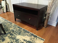 TV CONSOLE AND 2 SHELVING UNITS - SOLID WOOD - ESPRESSO