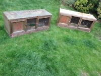 Free - 2x hutches in need of TLC