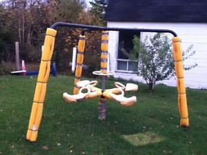 Outside play equipment for children 3 years to 12 years.