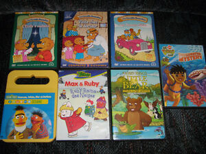 Lot de 7 dvd pour jeunes enfants - 7 dvd for $10 young children