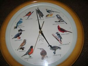 NATIONAL AUDUBON COLLECTION CLOCK