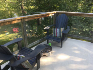 Glass deck railing for sale