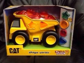 CAT- Shape sorter dump truck, New, Unopened