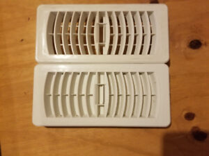 4x10 white plastic vent covers - 13 covers in total