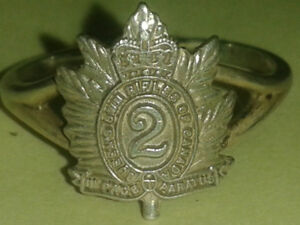 Queens Own Rifles of Canada silver ring