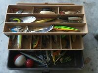 Tackle box with fishing lures