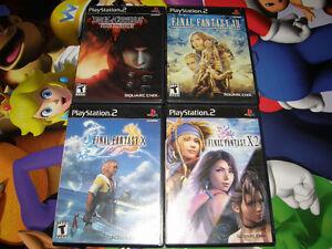 Lot de 4 Jeux Final Fantasy au PS2 X - X-2- XII - VII Échange