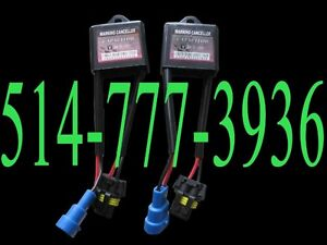 2 X HID Error Warning Cancellers Anti Flicker Condensateur