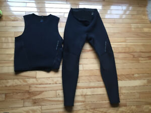 Two piece wetsuit
