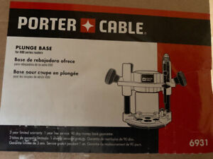 Porter-cable plunge router base