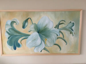 Stunning and large acrylic on board