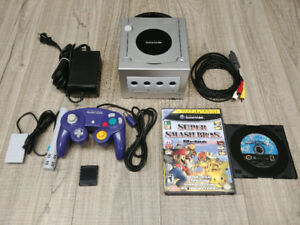 GameCube Console, Games, Memory Card, and Controller