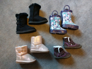 Girls size 4 boot lot