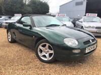 MG MGF 1.8i VVC Convertible Low mileage Warranty & delivery available PX welcome