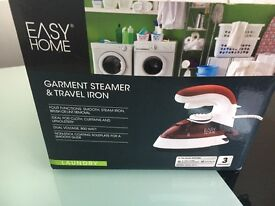 Garment steamer and travel iron.