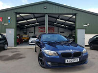 2010 BMW 520 2.0TD SE DIESEL MANUAL BLUE HPI CLEAR SERVICE HISTORY PX WELCOME