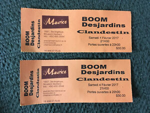 Billet spectacle Boom Desjardins
