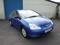 Honda Civic 1.4i Vision Ltd Edn SERVICE HISTORY AND MOT