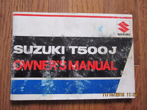 1972 Suzuki T500J Owners Manual Sarnia Sarnia Area image 1