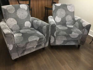 Grey Matching Accent Chairs for Sale.