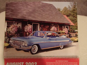 New 2002 GEAT AMERICAN CARS 12 Month CALENDAR. Issued by AKZO NO Sarnia Sarnia Area image 8