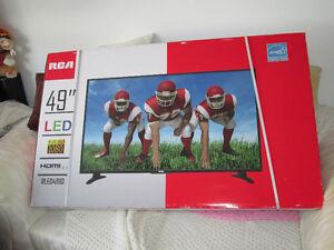 BRAND NEW SEALED BOX RCA 49IN LED HDTV 3 HDMI PORTS