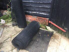Grass matting stable matting rubber