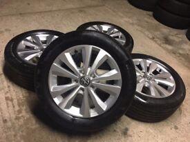 "5x112 16"" Genuine Volkswagen VW Golf Toronto Alloys w/ Tyres"