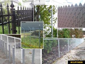 vente et installation de clôture autour de mtl