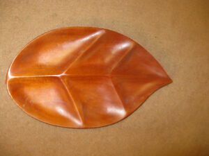 Beautiful Hand Carved Wooden Leaf Plate