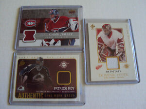 Roy, Price,& Hasek memorabilia cards