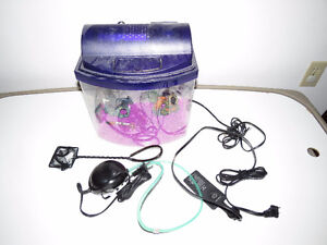 Fish tank comes with all required accessories (small size).