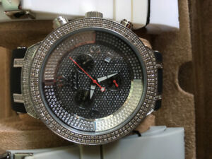 MONTRE DIAMANTS JOE RODEO 2.2CT 1.75CT LUXE FASHION NY HIP-HOP