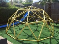 Steel 8ft Diameter Climbing Frame and TP Slide with Extension