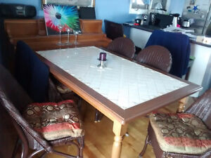 7 piece dinning set with ceramic table top