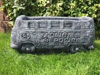 Vw camper van planter garden ornament