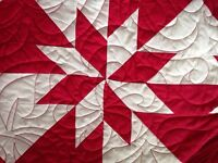 Striking Homemade Queen Size Quilt NEW with tags