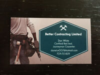 Better contracting Limited looking for new customers!