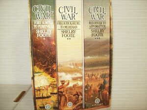 """""""The Civil War: A Narrative"""" by Shelby Foote (3 Paperbacks)"""