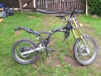 125cc rolling frame with log book