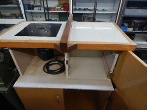3.25 porter cable router with custom made cabinet