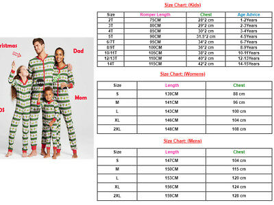 US Family Matching Christmas Pajamas Set Women Baby Kid Sleepwear Nightwear Gift](Christmas Pajamas Baby)