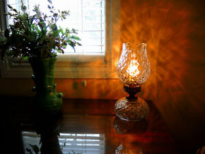 Beautiful Waterford Vintage Crystal Lamps + Bohemia Crystal Vase Windsor Region Ontario image 4