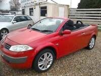 2005 Renault Megane 1.6 VVT ( 111bhp ) Dynamique Convertible Red Full Mot