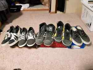 Puma Adidas Nike Vans shoes 5 pair of shoes for $15