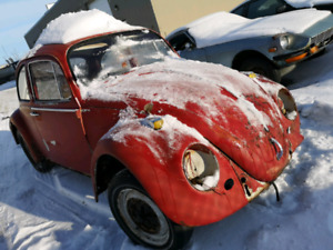 Classic beetle with engine/transmission