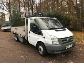 Ford Transit LWB Drop Side With Crain